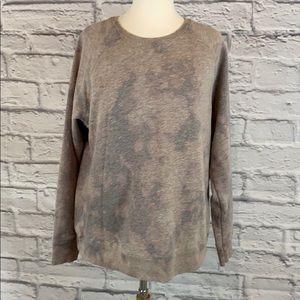 Gray Beige Bleach / Reverse Tie Dye Sweatshirt
